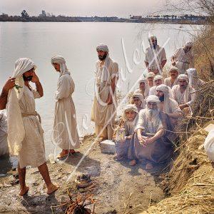 Baptême des Mandéens à Bagdad dans le Tigre-Irak