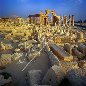 SYRIE-PALMYRE Citadelle de Zenobie